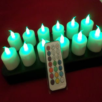 Remoted flameless LED tealight candle with charger