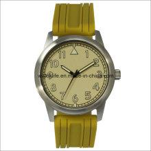 Brazo luminoso de acero inoxidable de cuarzo hombres reloj de pulsera