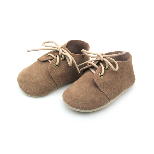 Hole Leather Baby Oxfords