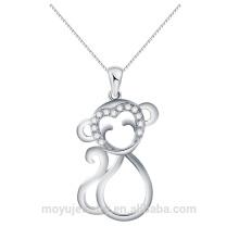 Différent en forme de singe en forme de pendentif en gros micro pavé de haut grade brillant CZ pierres bijoux en gros