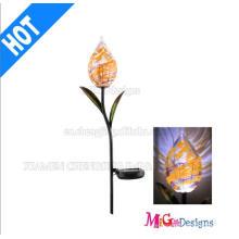 Hohe Qualität Metall und Glas Solarleuchten Pfahl