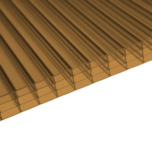 Feuille Multiwall de mur de polycarbonate 4 de bronze (OEM disponible)