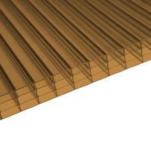 Бронза 4 листа поликарбоната стены многослойные (OEM доступный)