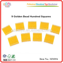 montessori material toys 9 Golden Bead Hundred Squares