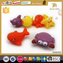 Adorável brinquedo de banho de borracha eco-friendly