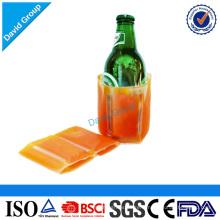 Pack de refroidisseur de bouteille de bière de glace et paquet froid jetable et refroidisseur de bouteille de bière en plastique