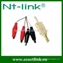 Испытательный кабель с зажимом типа «крокодил» с 2 и 4 полюсами