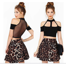 OEM Hot Sale Short Sleeve Sexy Cotton Ladies Crop Top