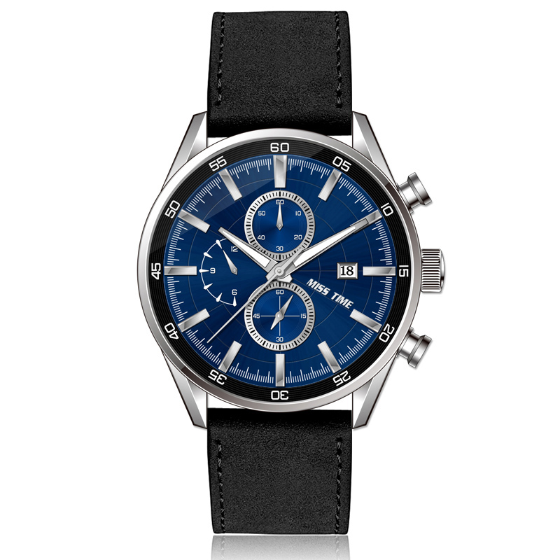 trend design chronograph watch casual stainless steel watch