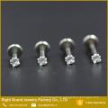 316L Surgical Steel Round Cubic Zirconia Lip Labret Monroe Tragus Cartilage