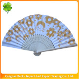 Fancy colorful beautiful promotion bamboo hand fan