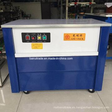 Semi-Auto Cartones Flejadora para exportación