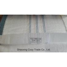 Nouveau tissu de rideau transparent Organza Voile de rayures de projet populaire 0082132