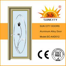 Puerta interior abatible de aluminio