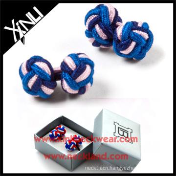 Square Cardboard Custom Cufflinks Gift Set Silk Knot Cufflink Box