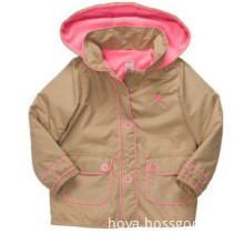 Hoodes Lightweight Khaki Jacket For Kids Girls