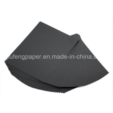 famous raw wood pulp 180g black cardboard china manufacturer
