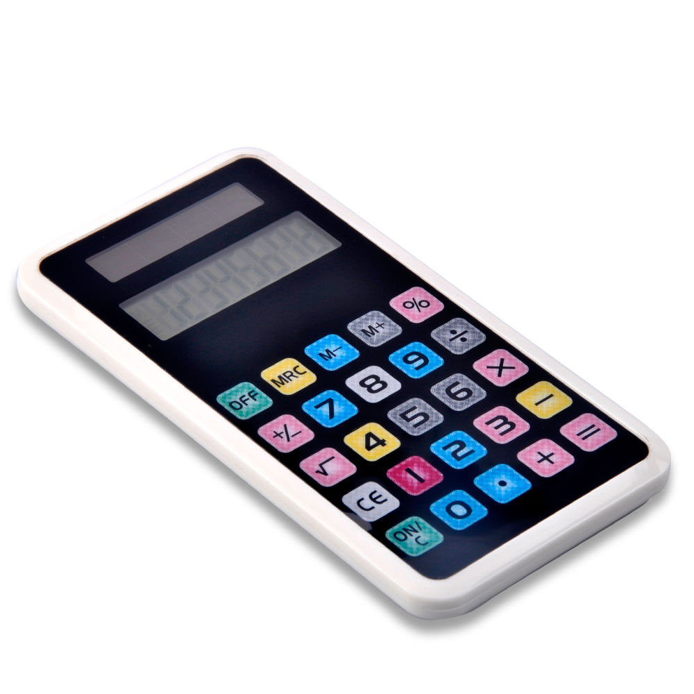 Dual Power IPhone Shape Touch Screen Calculator