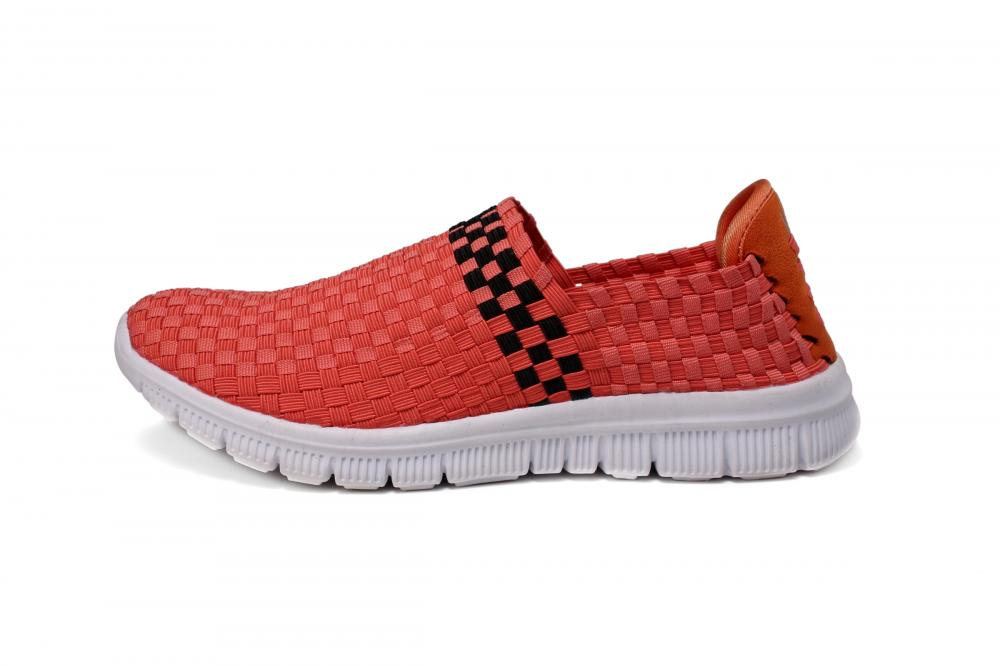 Watermelon Red Woven Loafers