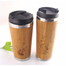 taza de café reutilizable de bambú al por mayor de China