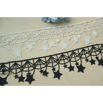 Polyester 3D Flower Sewing Lace Embroidery