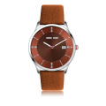 trend design colour leather quartz mens quartz watch