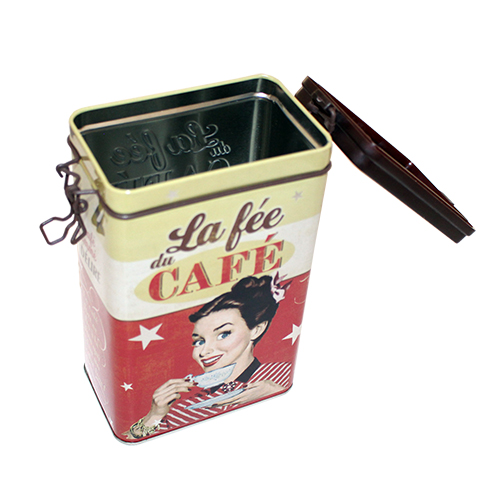 coffee bean tin