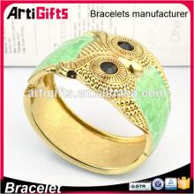 Pulsera de oro de alta calidad diseña brazalete de mujer búho