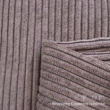 Tissu de velours côtelé 100% polyester avec traitement coupé