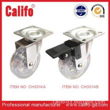 2014 NEW DESIGN PU caster of Brasil Market caster wheel for furniture