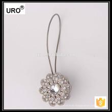 Silber dekorative Draperie Haken Kristall Vorhang Krawatte Rücken