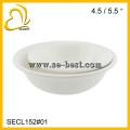 "4.5"" /5.5"" PURE WHITE PLASTIC SALAD ROUND BOWL; SALAD BOWL"