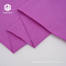 Tecido 100% algodão penteado de malha de algodão simples para têxteis