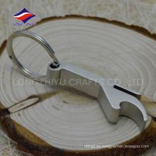 Fábrica de diseño de uso general abridor de botella de metal blanco en blanco