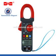 Pinza amperimétrica digital WH823 con capacitancia con datos de temperatura, retención de frecuencia, ciclo de trabajo