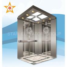 Espelho gravado inoxidável 1000KG elevador de passageiros para restaurante