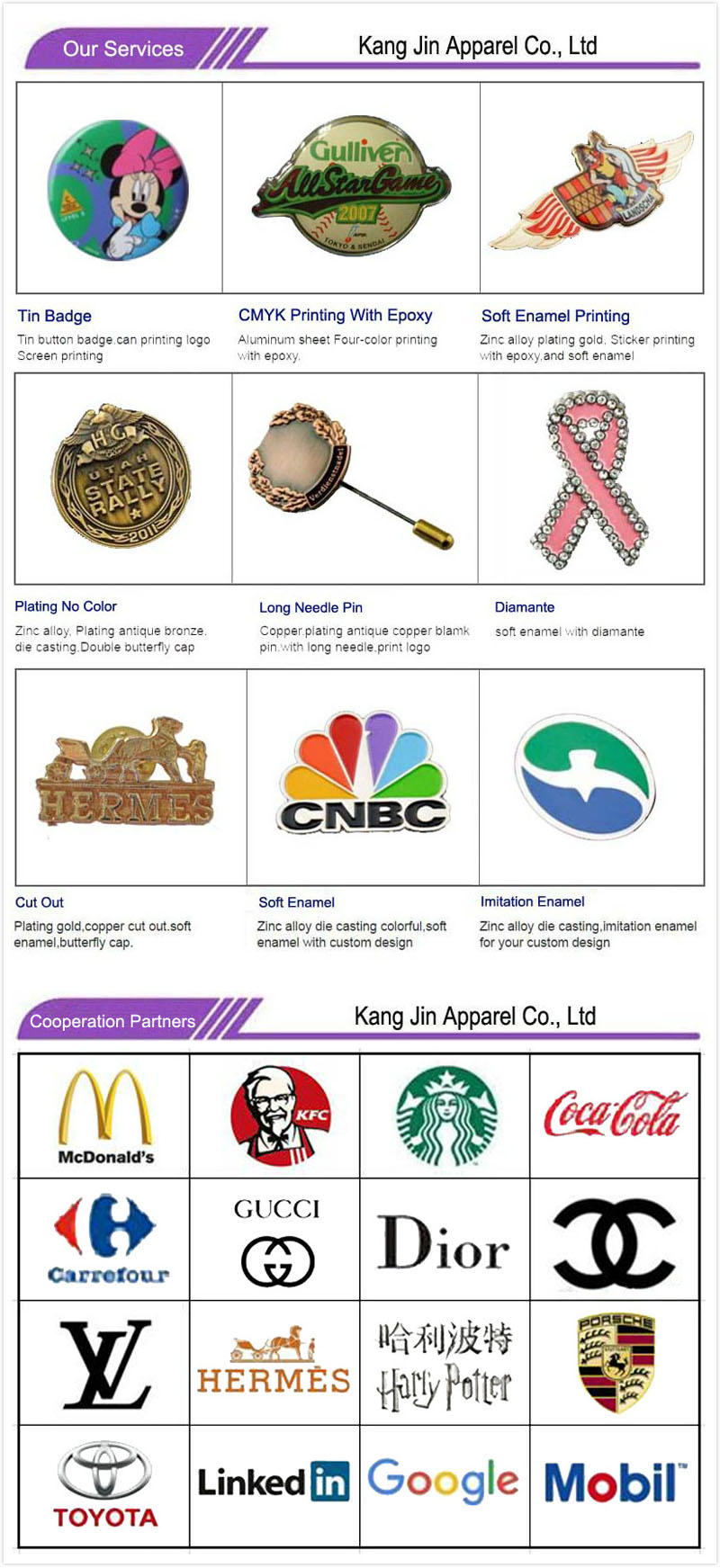 Favorite Food Gold Plated Lapel Pins