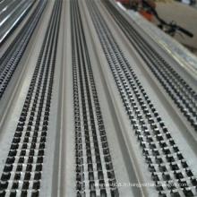 Coffrage à nervures élevées de plaque de fer d'épaisseur de 0,11 mm