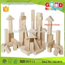 398pcs Bloques de unidad estándar de madera sólida de juguete de construcción