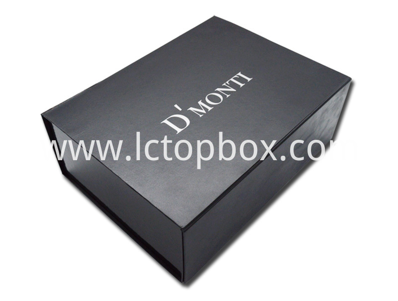 Black Cardboard Collapsible Box with Logo