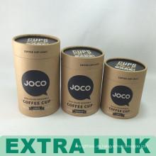 Klassisches kundengebundenes Logo aufbereitete Brown-Kraftpapier-Kaffeetasse