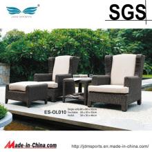 Mobília ajustada do Rattan do sofá de vime ao ar livre do jardim (ES-OL010)