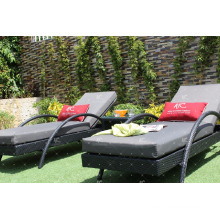 Luxury Poly Rattan UV Resistant Sun Lounger Resort Garden Outdoor Furniture