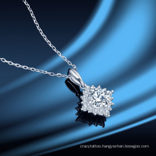 Korean Star Six-Pointed Star Mozanstone Diamond Pendant Women′ S S925 Sterling Silver Clavicle Chain Fashion Jewellery Necklace