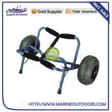 foldable aluminum beach cart with balloon wheels,collapsible cart with wheels