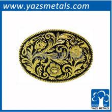 personnaliser les boucles de ceinture, boucles d'oreille ovales occidentales sur mesure et boucle de ceinture noir