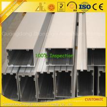 Profils en aluminium anodisés par extrusion de haute qualité pour le mur rideau