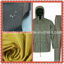 El Taslon impermeable con acabado recubierto de PU para tela de prendas de vestir