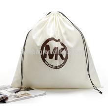custom promotional cheap cotton canvas drawstring bag