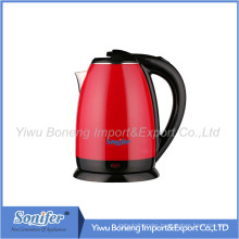 1.8 L Colourful Electric Kettle Hotel Water Kettle Stainless Steel Kettle Sf-2007 (Red)